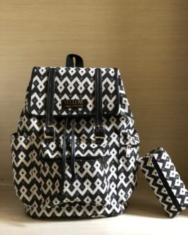 Black and White Safeco Backpack